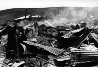 Damage to property and livestock after the 1983 Ash Wednesday fires