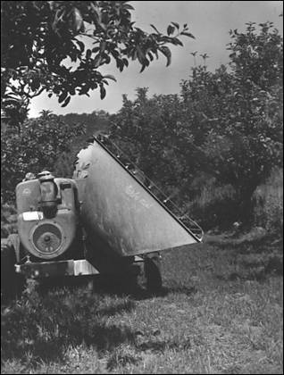 First air blast sprayer imported from Canada in 1950