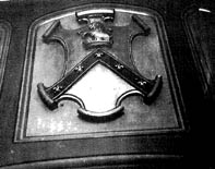 Holland family crest which still survives in the house at Turretfield today