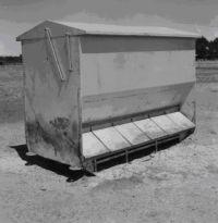 Figure 3, Photo 104976, Self feeding unit for pigs.