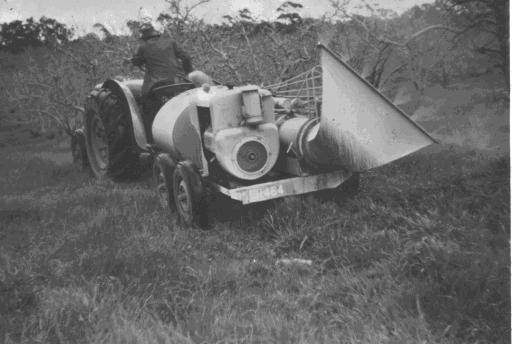 The first Okanagan turbo mist sprayer imported into Australia in 1951