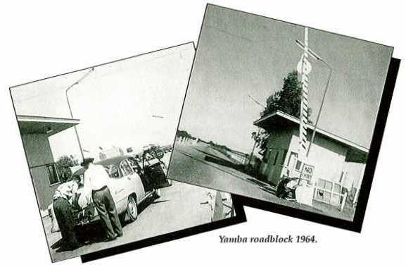 Yamba roadblock 1964